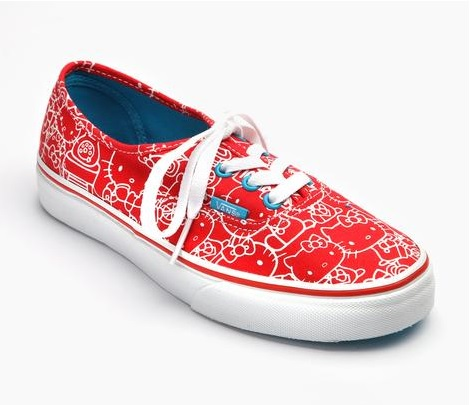 Spectacular VANS x Hello Kitty Authentic Red