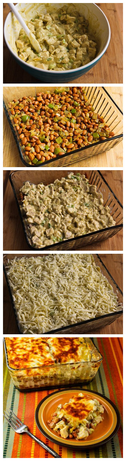 Layered Mexican Casserole Recipe with Chicken, Green Chiles, Pinto ...
