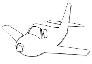 Desenhos de Avião para imprimir e colorir