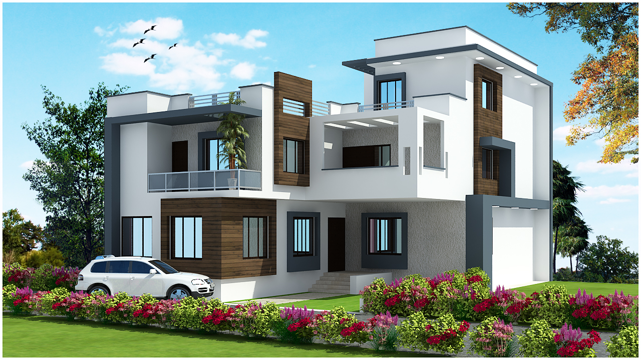 Front Elevation G 1 : Ghar planner leading house plan and design