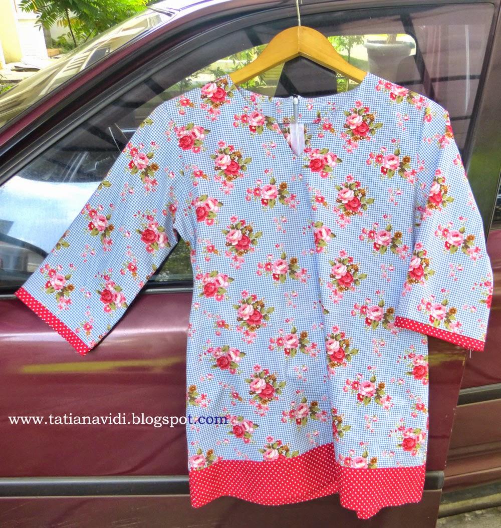 Tatiana Vidi Sewing Blog Pecah Pola 1 Tunik Catra