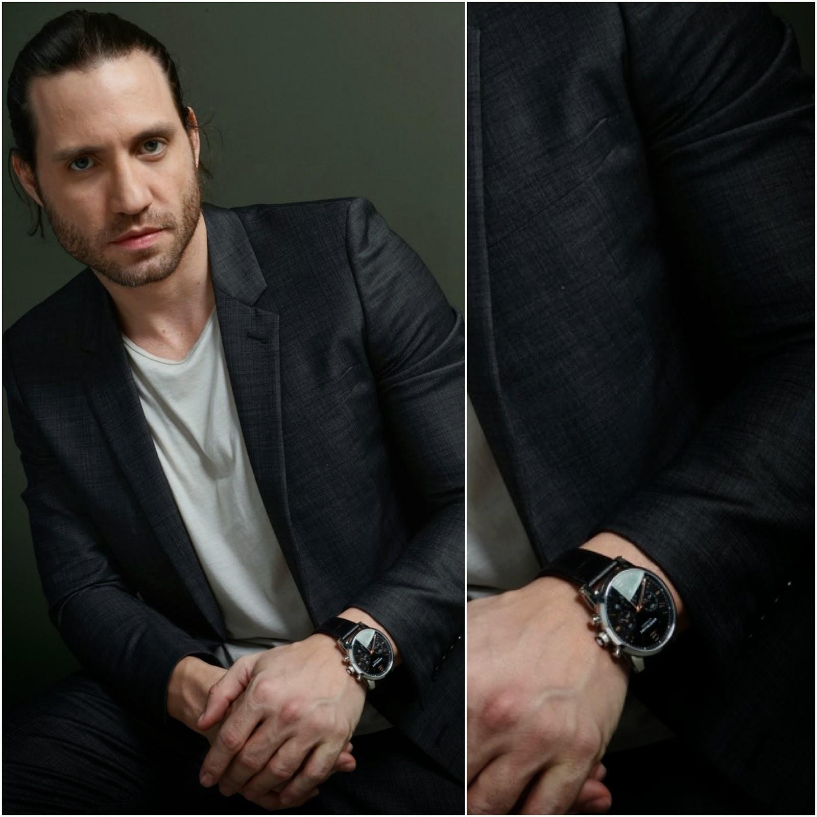 00O00 Menswear Blog: Édgar Ramírez's Montblanc TimeWalker Chronograph - 'Libertador' Portraits in Toronto