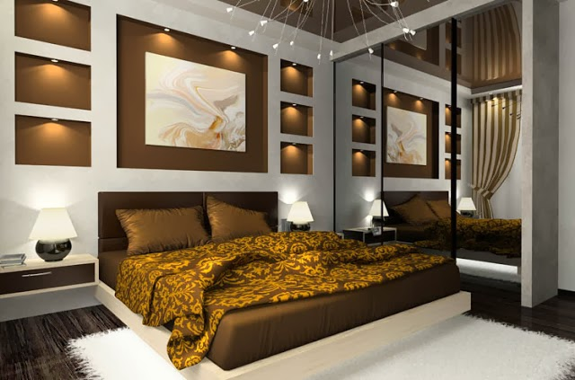 : ديكور سرير غرفة النوم : ديكور