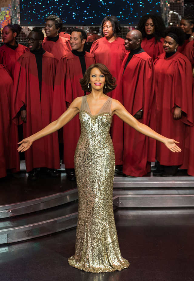 wax figure of whitney houston
