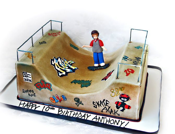 Skateboard Park Birthday Cake Ideas
