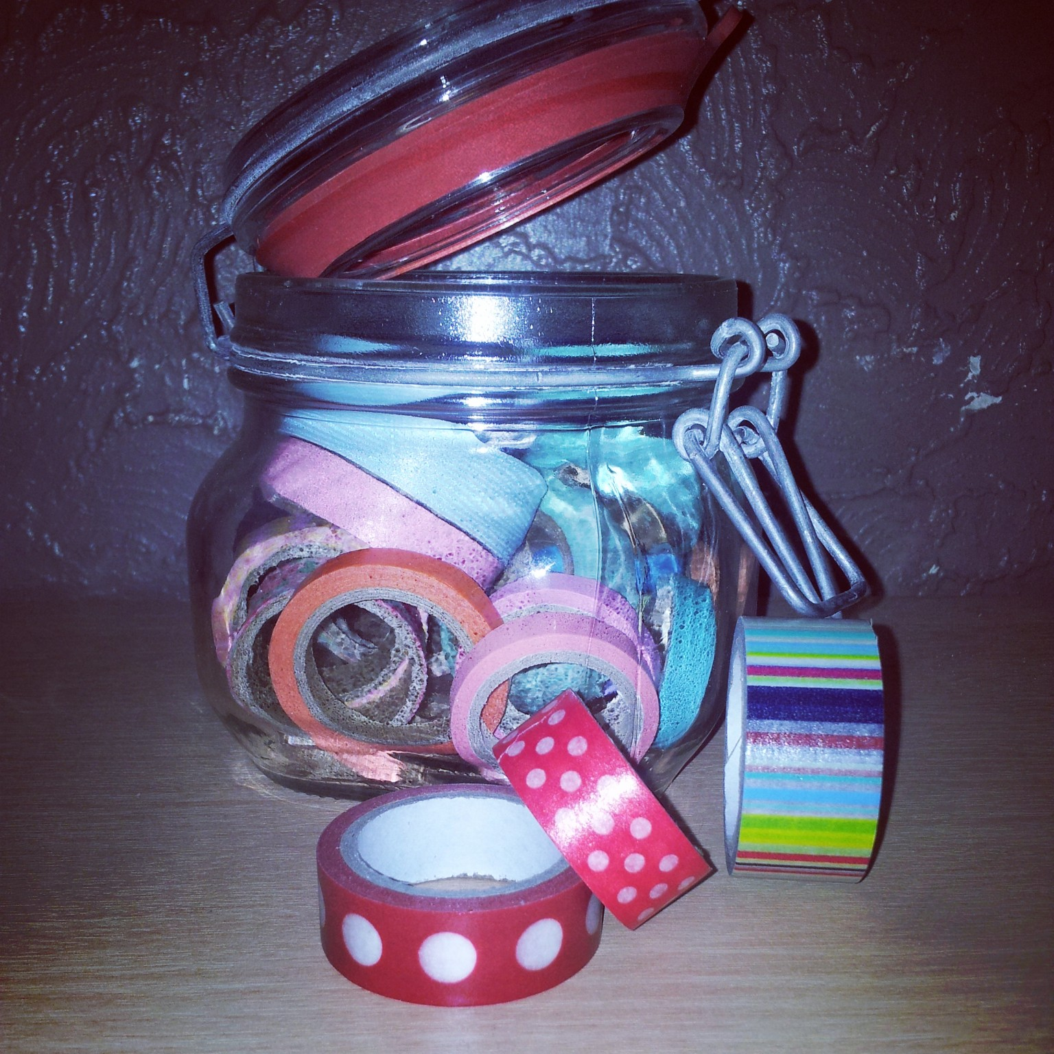 washi tape, mason jar, storage,