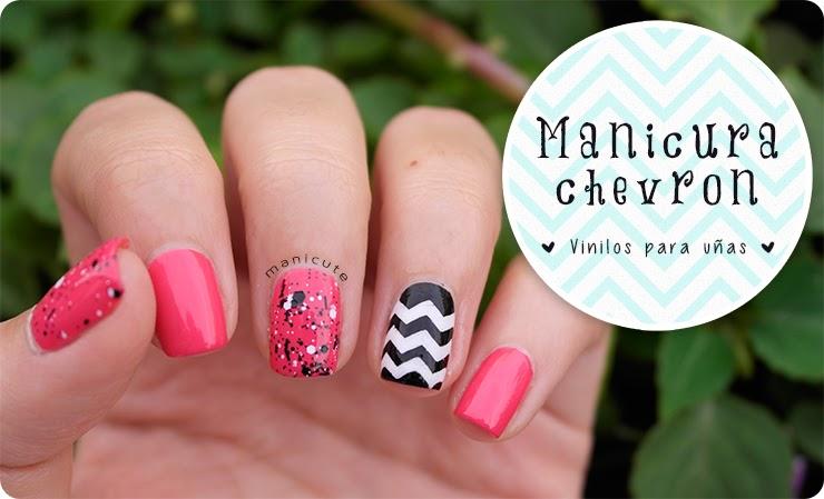 ManiCute | Nail art blog: Nail art zig-zag | Vinilos para las uñas