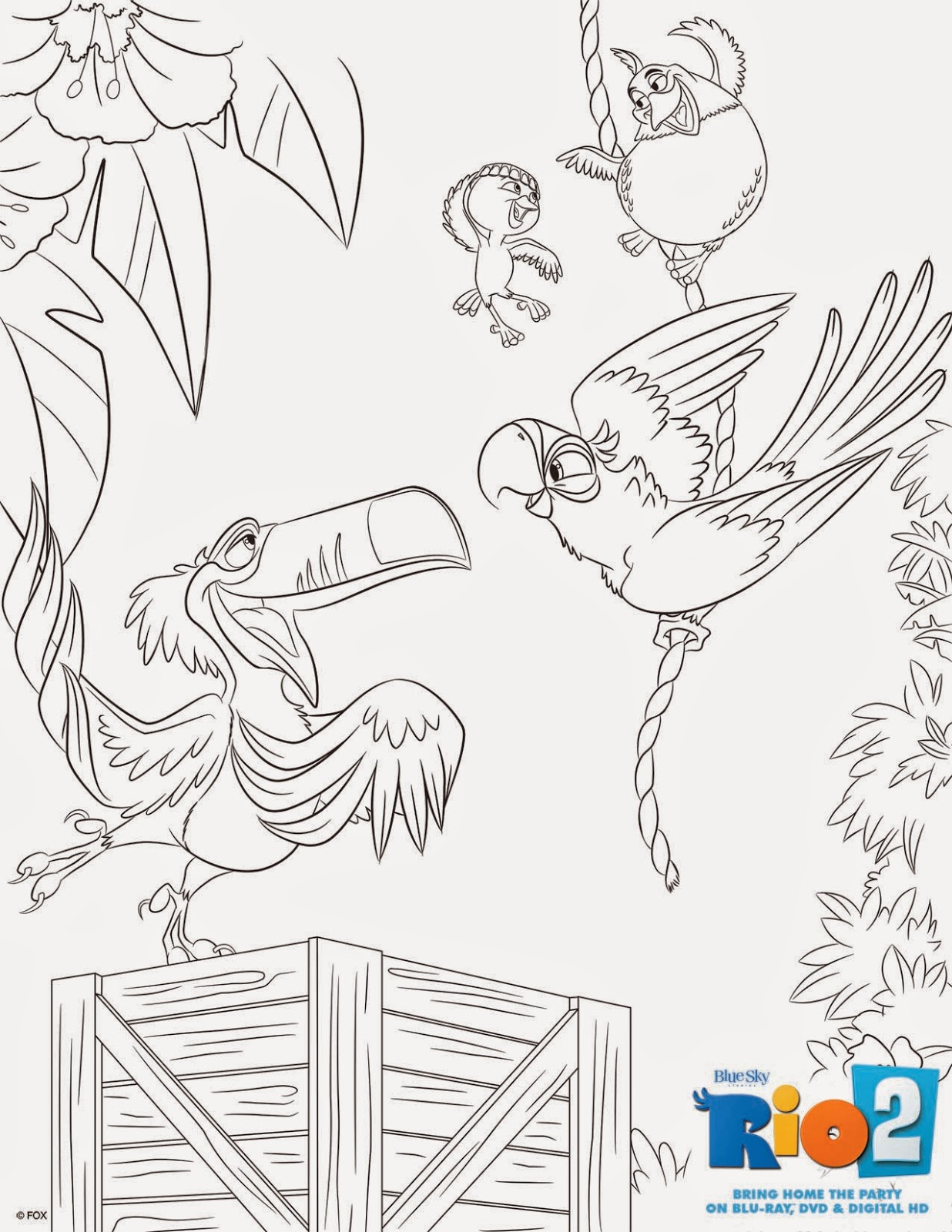 a geek daddy free rio 2 coloring pages u0026 bluray dvd digital