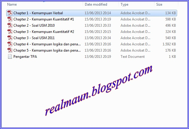 Download Pembahasan 5 Bab Materi Tpa Usm Pkn Stan English 4 Tests