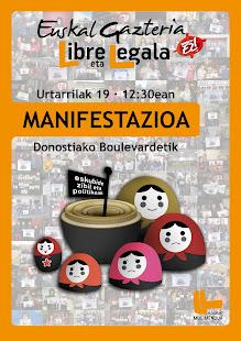Manifestazioa 19an! Danok Donostira!