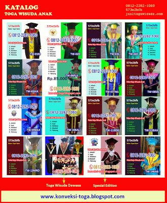 katalog baju toga wisuda anak murah online di jakarta