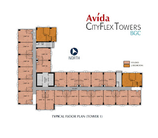Avida CityFlex Towers BGC Residential Floor Plan