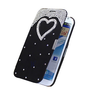 Deluxe Bling Flip PU Leather Hard Case Cover For Samsung Galaxy Note 2 II N7100