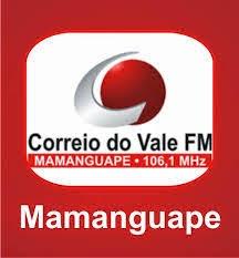 ouvir a Rádio Correio do Vale FM 106,1 Mamanguape PB