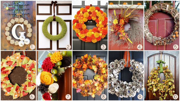 Get Inspired By The Trees Outside Or Even Use Their Leaves To Make Unique Artful Wreaths For Your Front Door Hang Them Inside