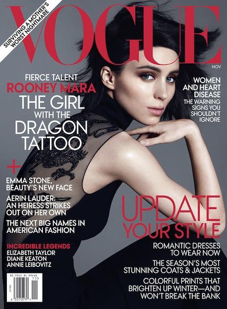 Rooney Mara Vogue November 2011