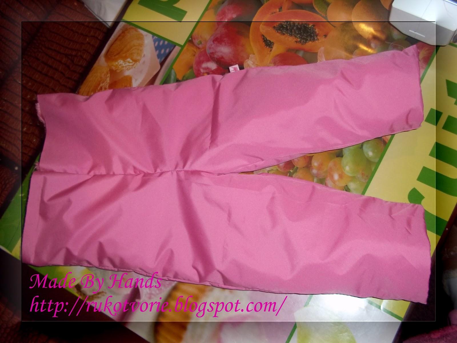 Как сшить детские штаны на резинке из плащевки 87