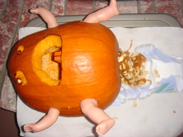 Funny Baby Poop Pumpkin