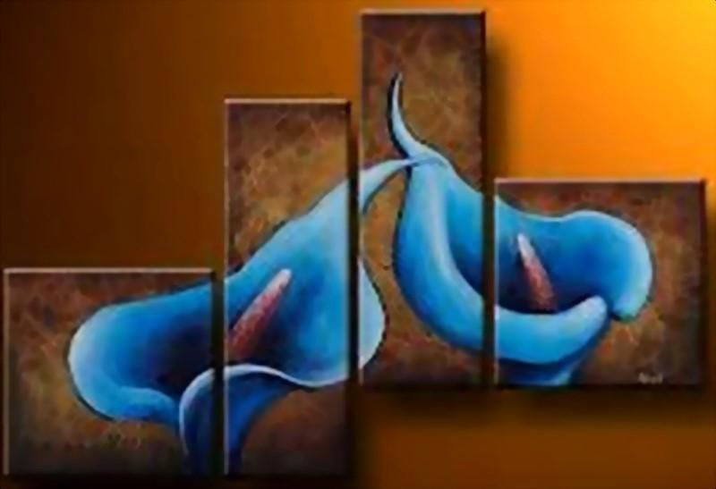 para decoración de salas pintura de flores grandes al oleo