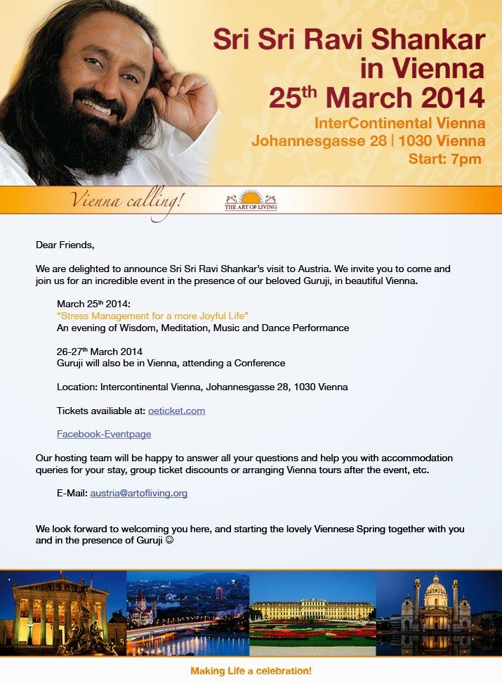 Sri Sri Ravi Shankar in Vienna