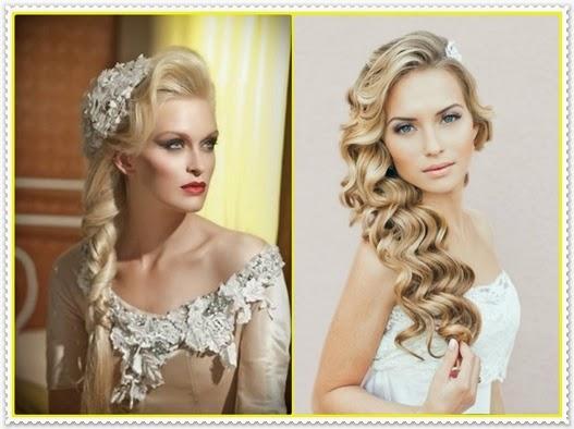 2015 Orta Uzunlukta Gelin Saçı Modelleri