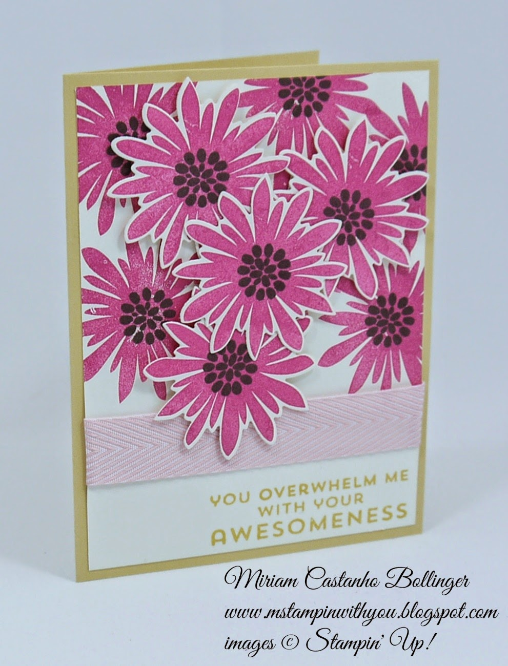 Miriam Castanho Bollinger, #mstampinwithyou, stampin up, demonstrator, dsc125, thank you, flower patch bundle, big shot, su
