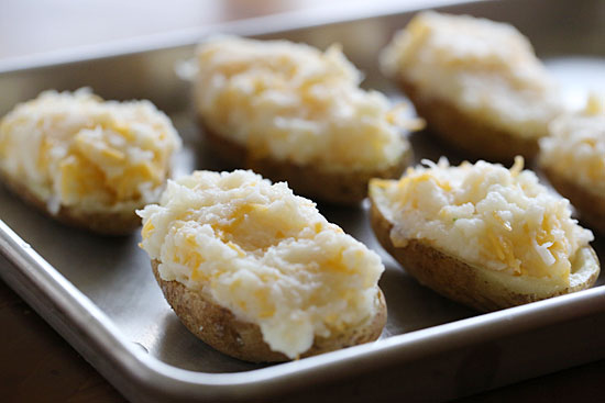 Broccoli and Cheese Twice Baked Potatoes | Skinnytaste