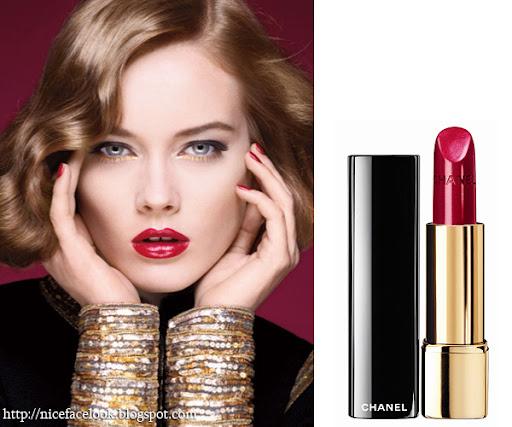 Chanel грим в златно и червено