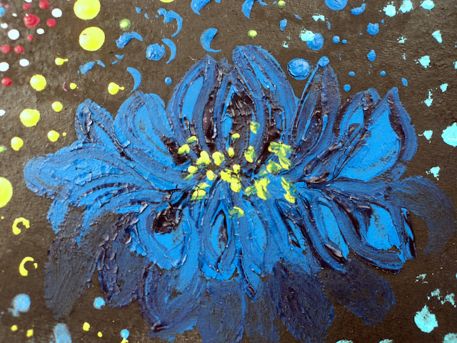 gouache painted chrysanthemum