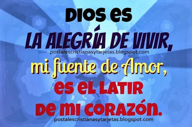 Dios es mi fuente de Amor. Postales cristianas, tarjetas cristianas, imágenes lindas de Dios para mi muro facebook, etiquetar amigos, Dios es amor