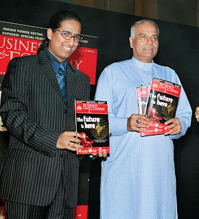Arindam Chaudhuri, Editor-in-Chief, Business & Economy and Yashwant Sinha, Former FM