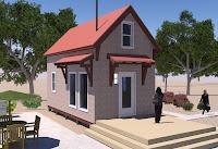 fachada de modelo de pequeña casita