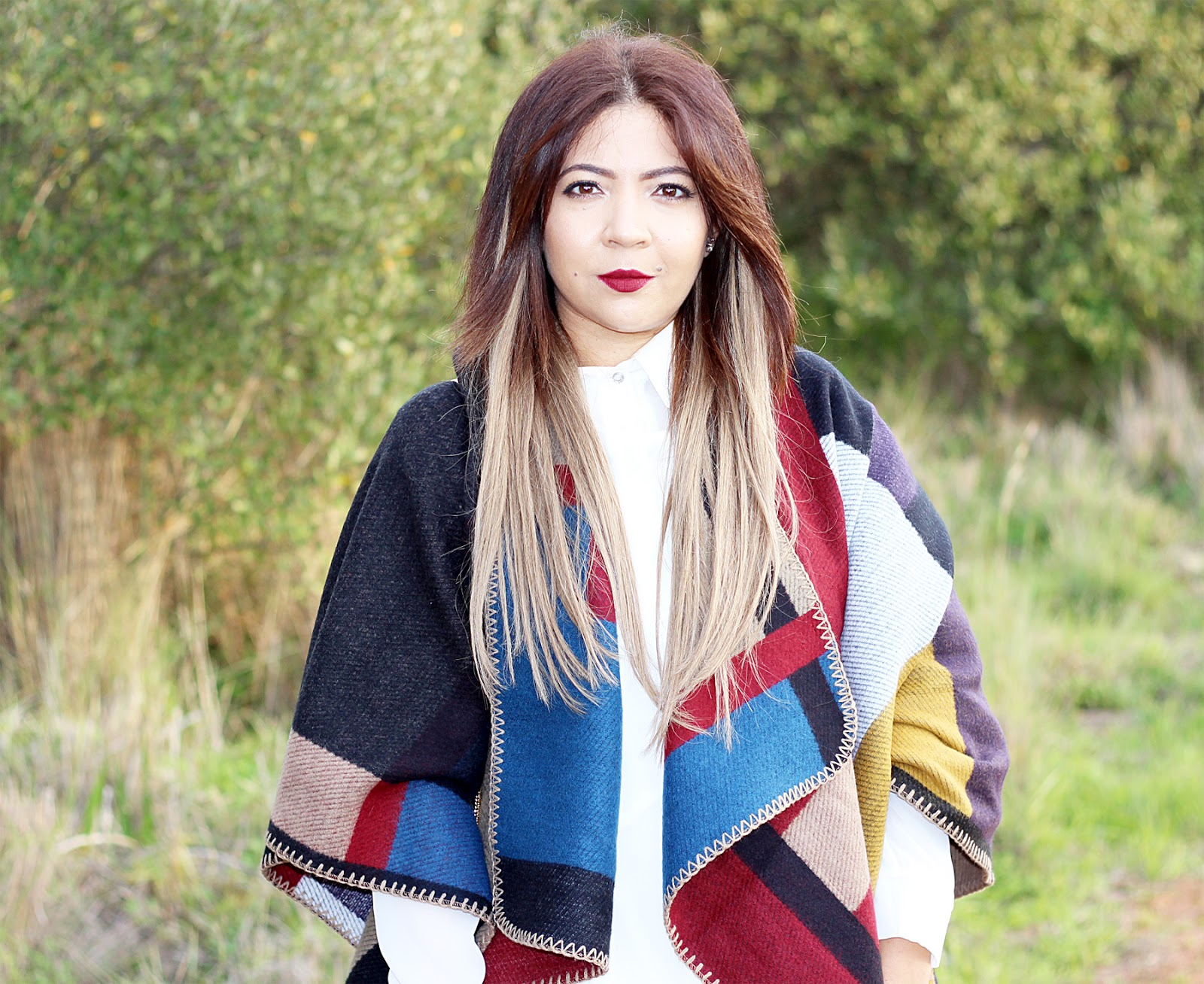 blanket cape ootd, blanket wrap, fashion blogger cape town, winter fashion