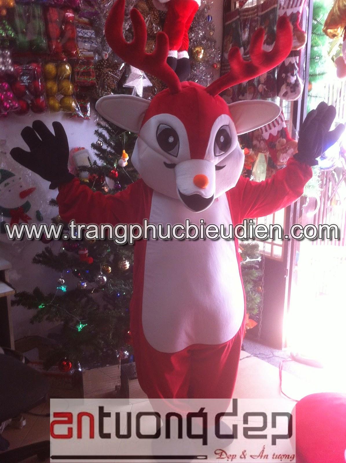 may bán mascot tuần lộc