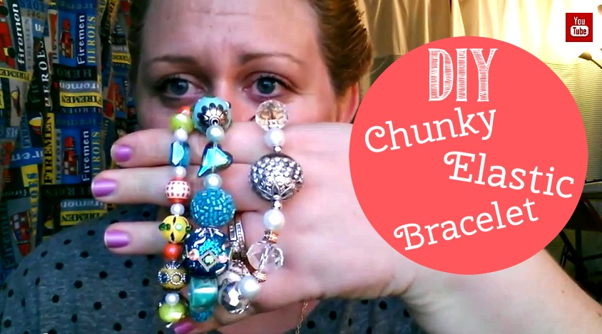 DIY Chunky Elastic Bracelet