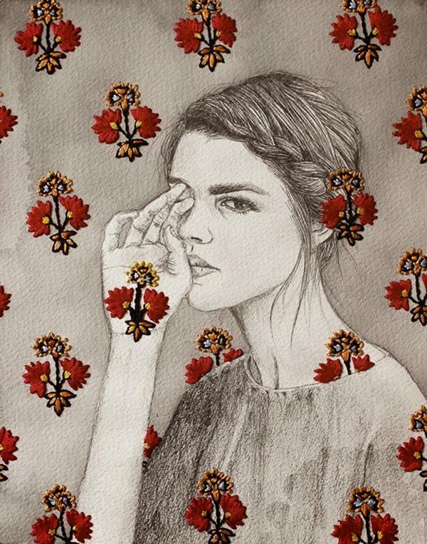 Embriodered Illustrations by Izziyana Suhaimi