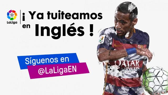 LaLiga estrena su cuenta de Twitter oficial en inglés