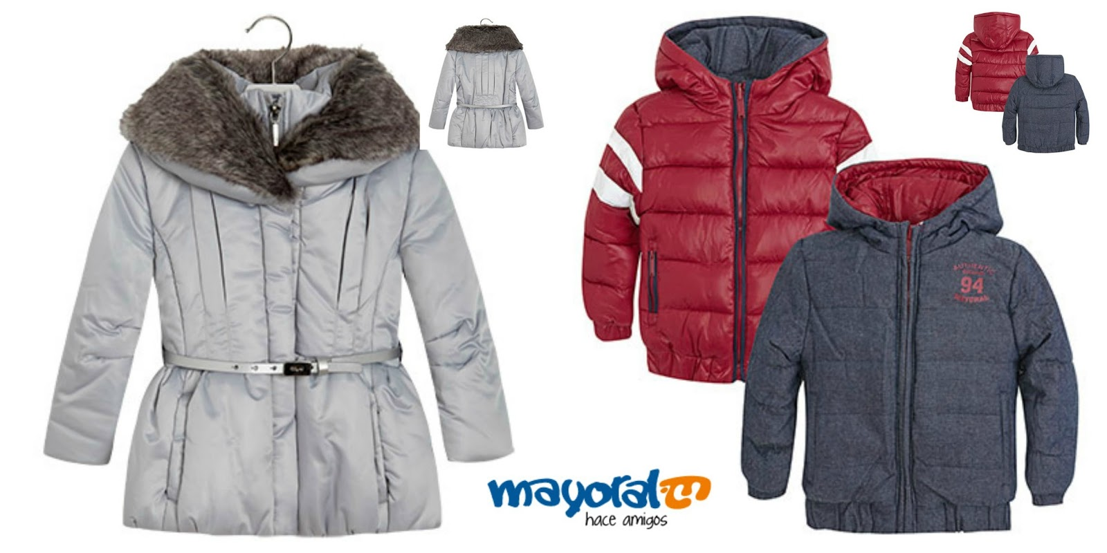 Abrigo para el frio de nina