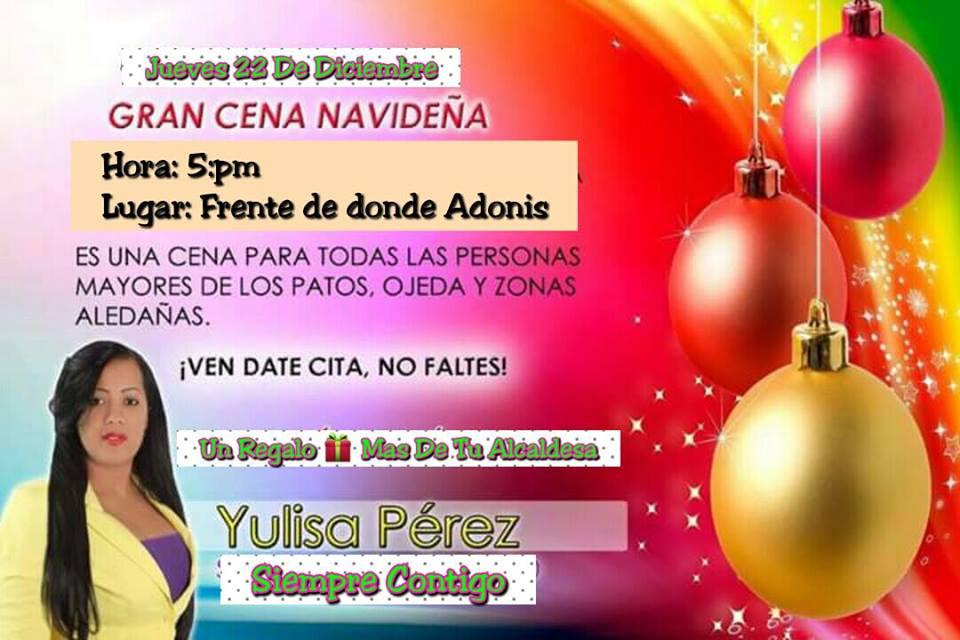 ALCALDESA YULISA PEREZ, TRABAJADORA INCANSABLE POR SU PUEBLO DE LOS PATOS