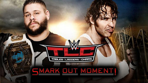 WWE TLC 2015 PPV Dean Ambrose vs Kevin Owens IC Title Match