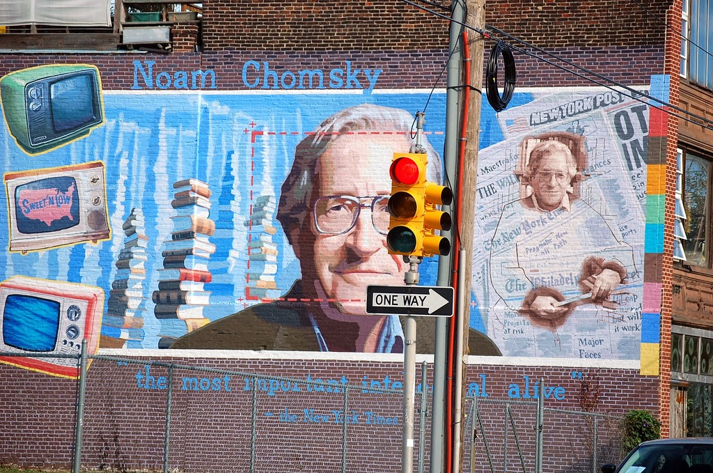 Murale dedicato a Noam Chomsky, Filadelfia