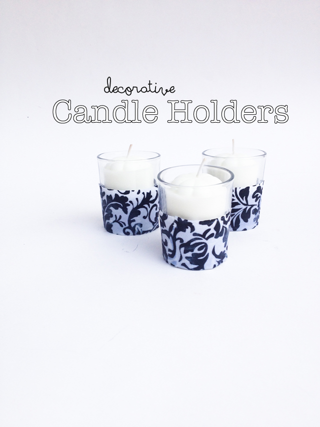 DIY decorative candle holders by mamableu.com