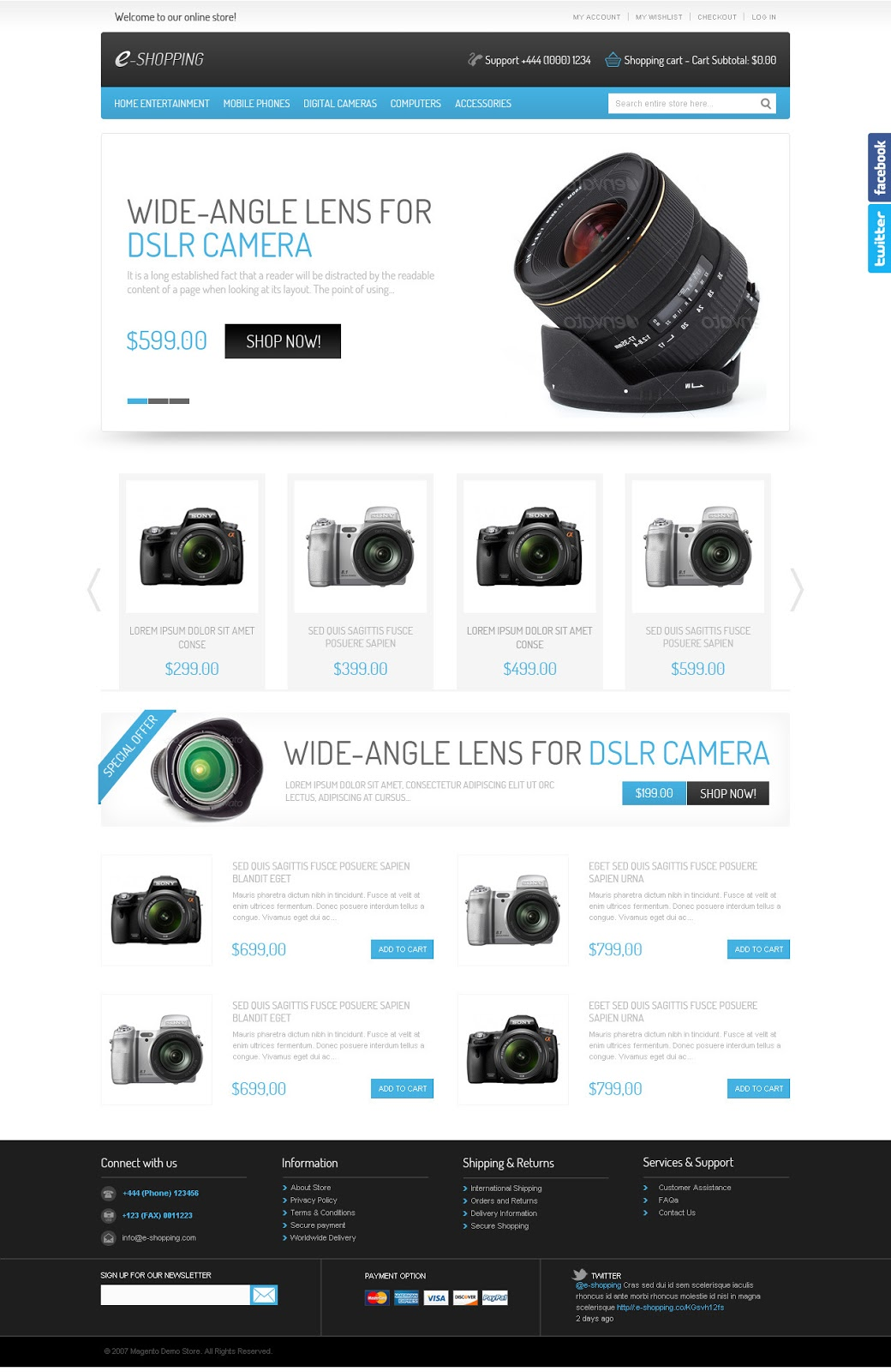 e-shopping-Magento-Template