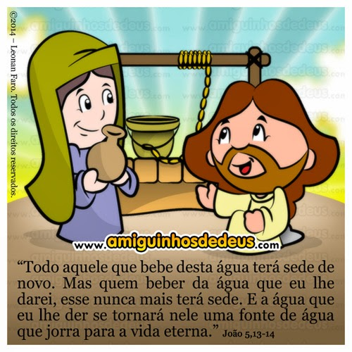 Jesus e a samaritana desenho