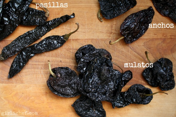 chiles for Slow-Cooker Mole Rojo | www.girlichef.com