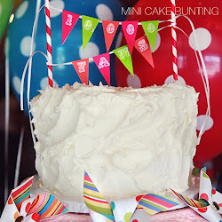 The TomKat Studio DIY Party Projects Mini Cake Bunting Tutorial