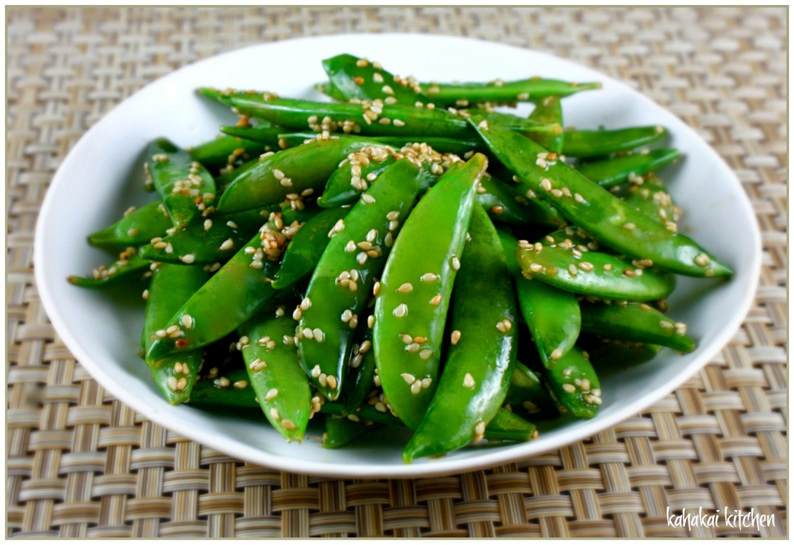 Kahakai Kitchen: Sesame Sugar Snap Peas (A Tasty Pupu ...