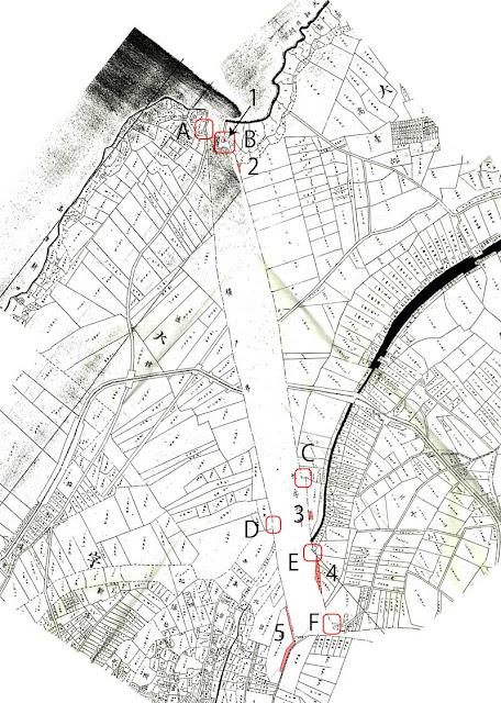 境界沿いの細長い筆とクランク 1~  古代官道(仮説)を地籍図からみる