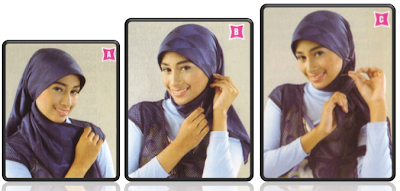 Cara Memakai Jilbab Kampus Simpel Trend 2013