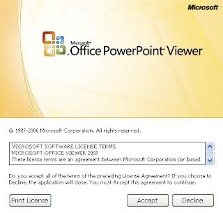 PowerPoint startUp screen Shot
